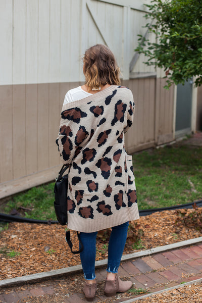 Lifestyle Leopard Sweater - Tan
