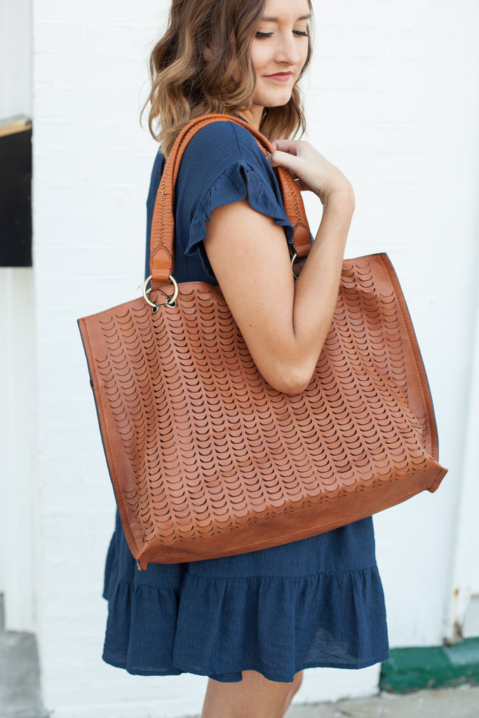Out Of Office Tote - Brown