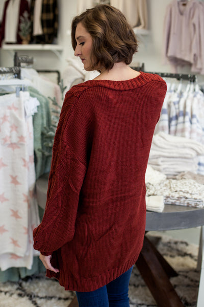 Colbie Cardigan - Brick