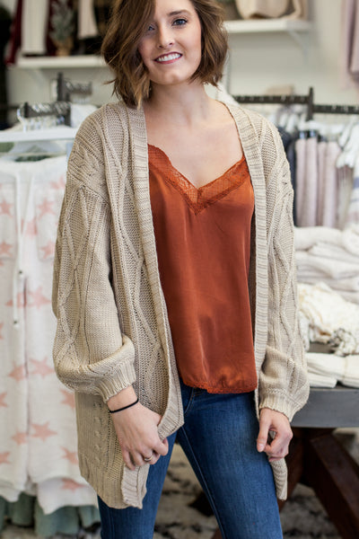 Colbie Cardigan - Taupe