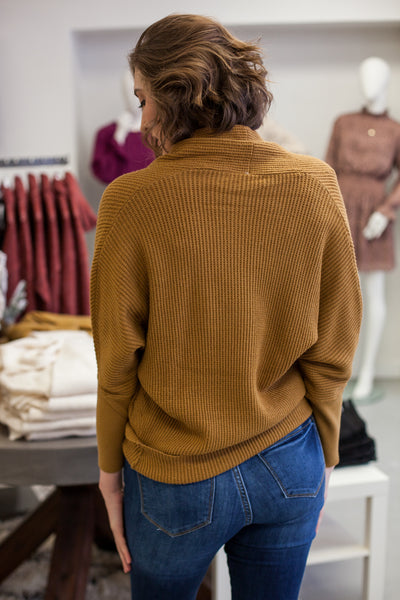 Remi Dolman Sleeve Sweater - Tobacco