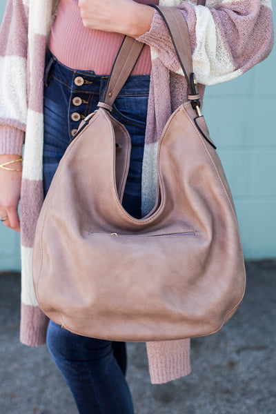 Josie Shoulder Bag - Taupe