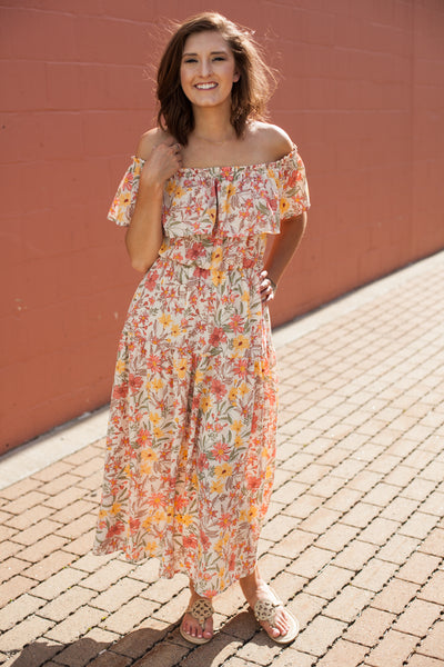 Havana Ruffle Maxi Dress - Floral