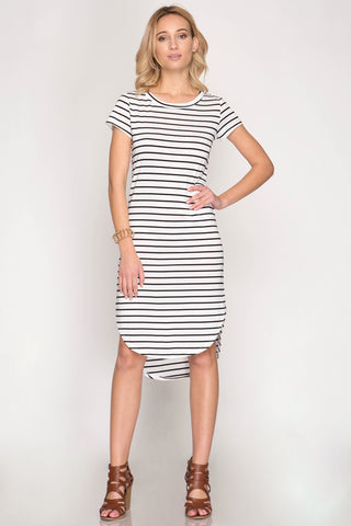 Go With The Flow Midi Dress