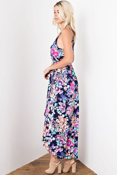 Rebecca High Low Dress - Floral