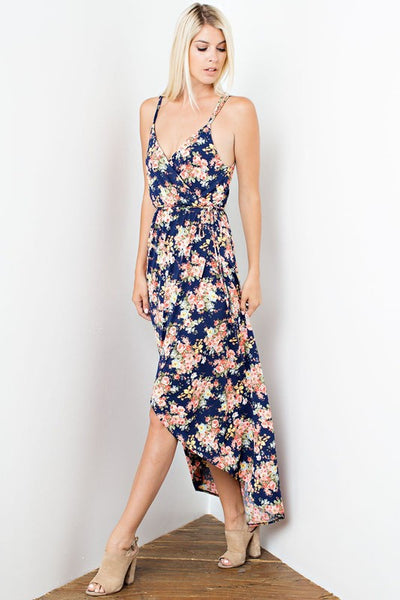 Jessica High Low Dress - Navy