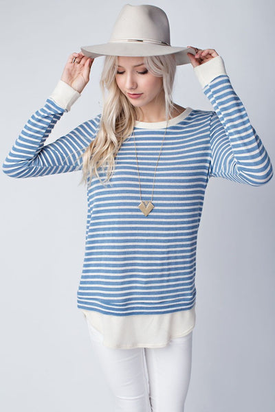 Hadley Striped Long Sleeve - blue