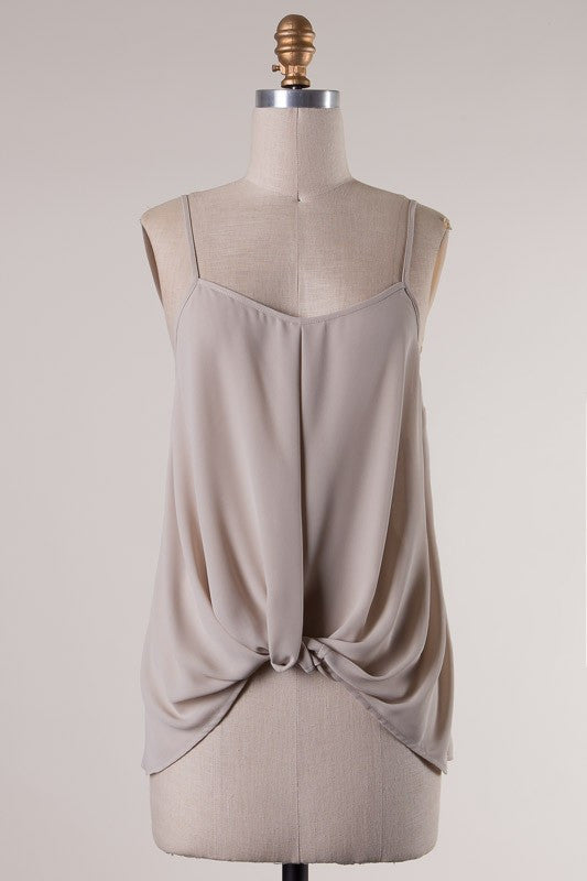 Theresa Tie Tank - Oyster
