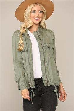 Kason Tencel Jacket - Olive