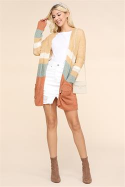 Dina Color Block Knit Cardigan