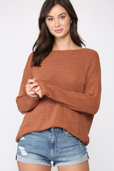 Self Love Knit Sweater - Rust