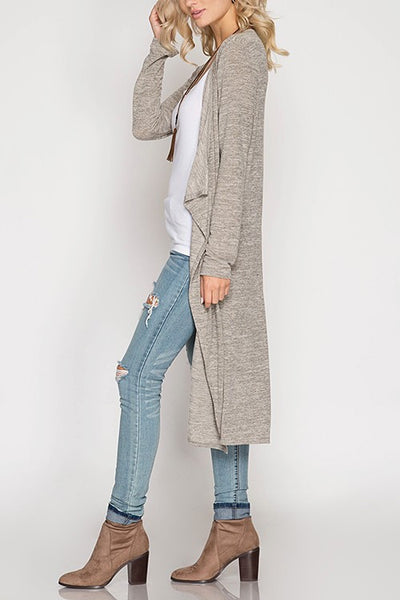 Charlie Duster Cardigan - Grey