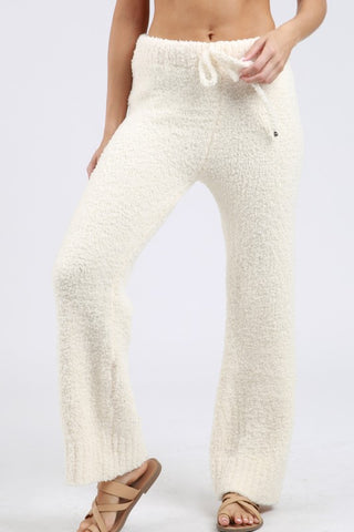 Berber Fleece Cozy Pants - Cream