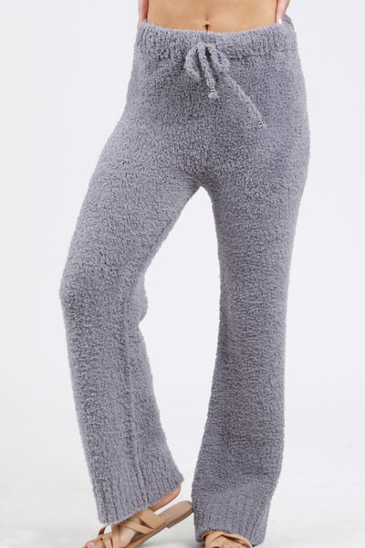 Berber Fleece Cozy Pants - Grey