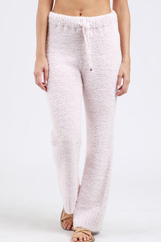 Berber Fleece Cozy Pants - Powder Pink