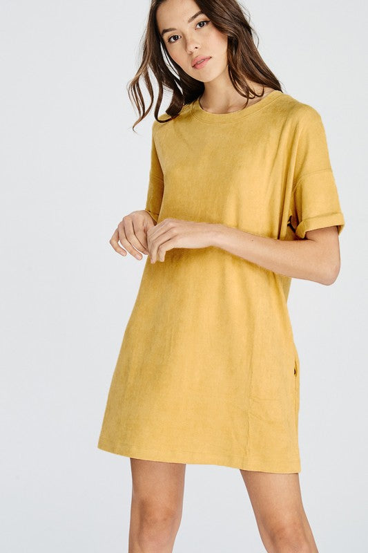 Stacey Casual Day Dress - Mustard