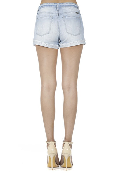 Cali Cuffed Light Wash Shorts