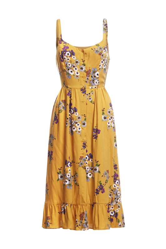 Mahon Midi Dress - Mustard