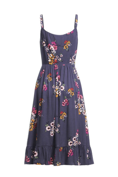 Mahon Midi Dress - Plum