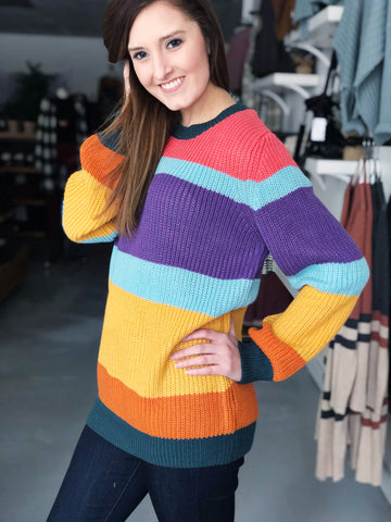 Kenzie Sundae Stripe Sweater