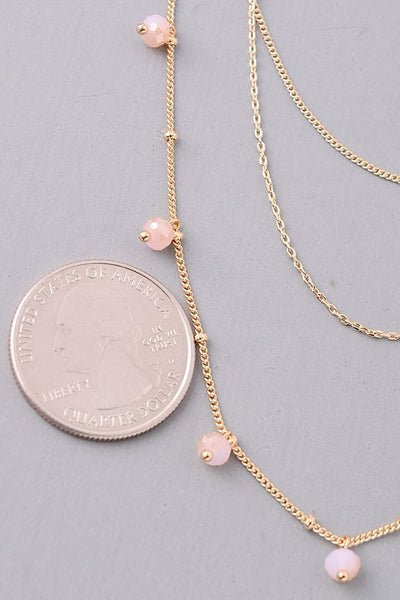 Jacy Beaded Necklace - Rose