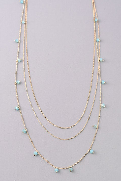 Jacy Beaded Necklace - Mint