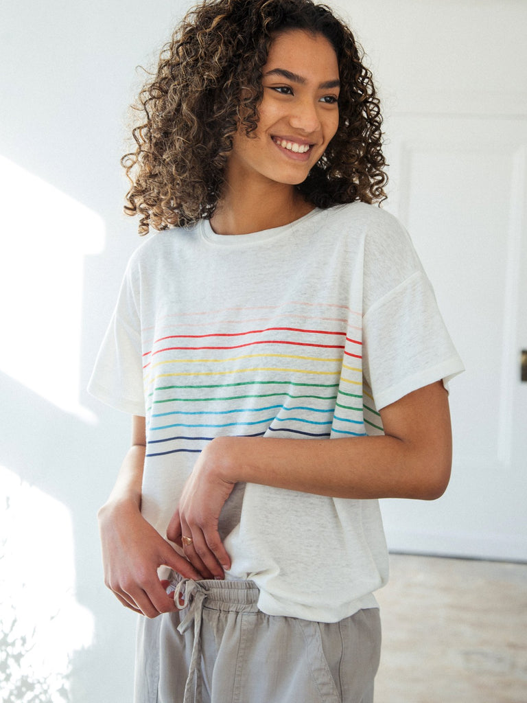Mason T Shirt - Rainbow Stripe