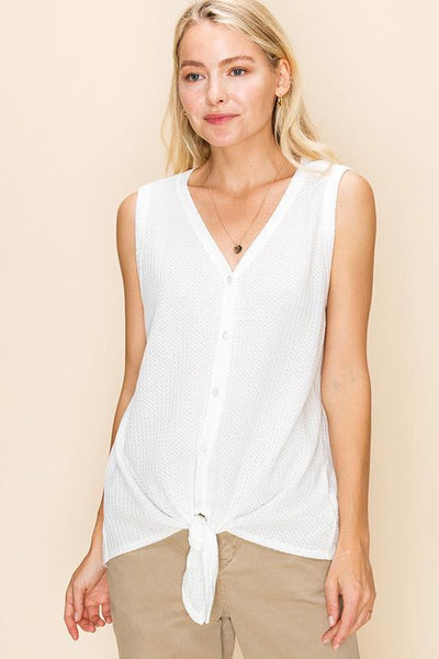 Comfort Zone Knit Tank - Ivory