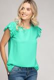 Cookie Cutter Blouse - Ice Green