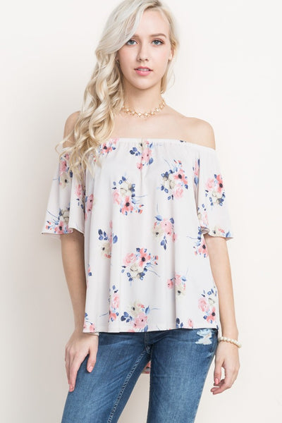Off the Shoulder top in Sand