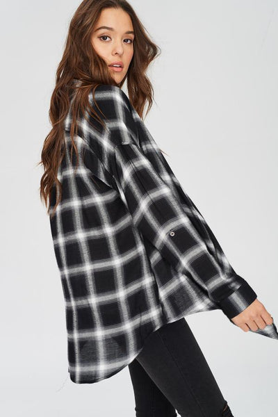 Hankercheif Flannel - Black