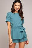 Dalila Double Layer Romper - Teal
