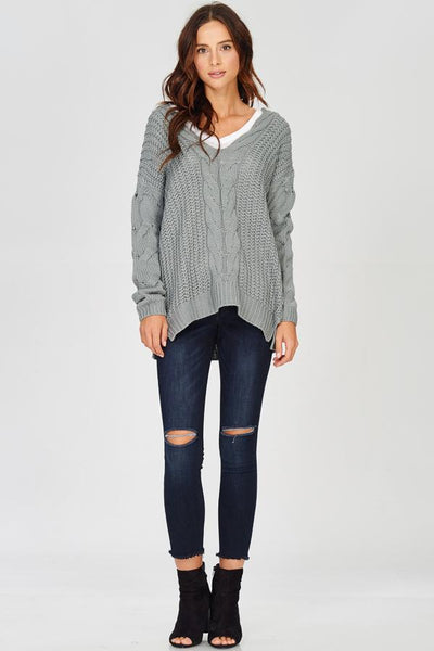 Faith Knit Sweater - Cloud