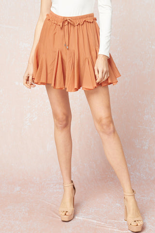 Campbell Ruffle Skirt - Clay