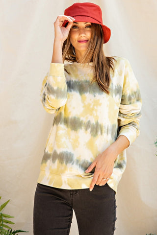 Unwind Knit Sweatshirt - Faded Olive