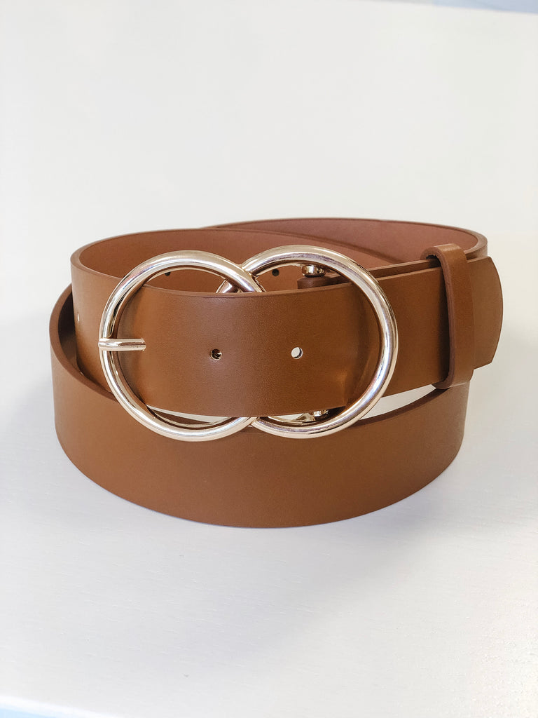 Stevie Double Buckle Belt - Cognac