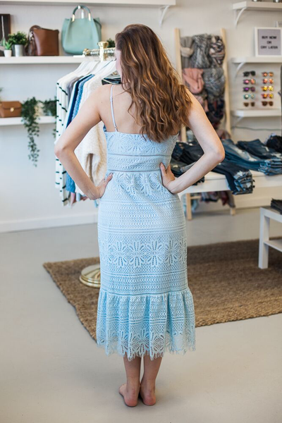 Alexa Lace Dress - Light Blue