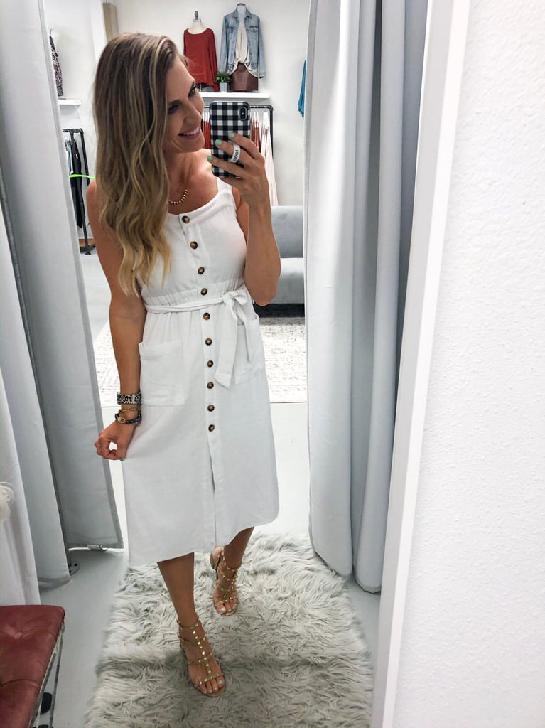Go The Distance Dress - White