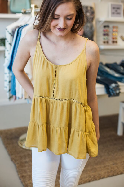Annie Ladder Trim Tank - Mustard
