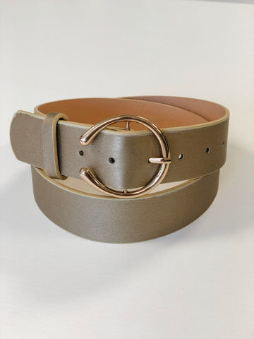 Stevie Double Buckle Belt - Champagne