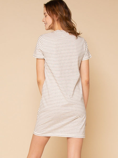 Kick Back Dress - Noir Stripe