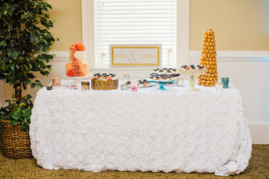 Peach and Aqua Wedding at Fauquier Springs