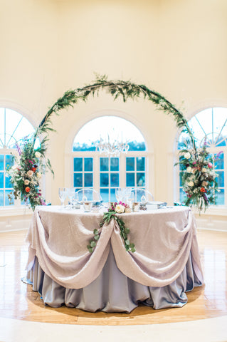 Floral Hoop Rental for Sweetheart Table