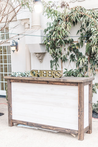 Wooden Bar Rental