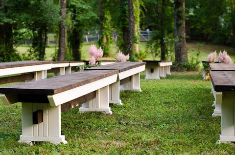 Wooden Ceremony Bench Rental