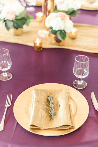 Tabletop - Basic Acrylic Chargers - Main Street Weddings & Events