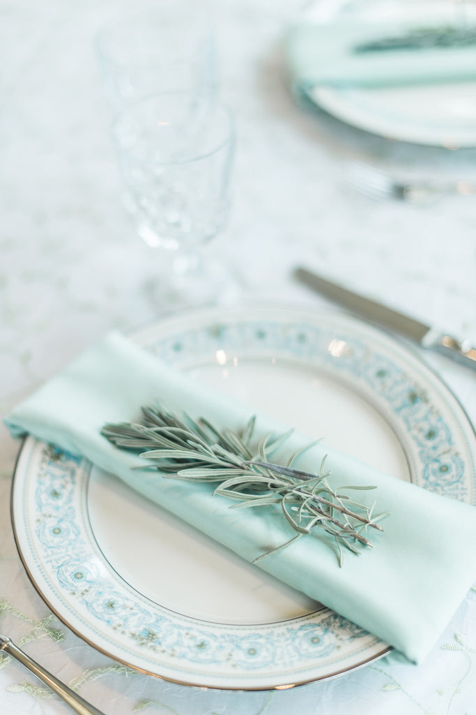 Linen - Mint Matte Satin - Main Street Weddings & Events