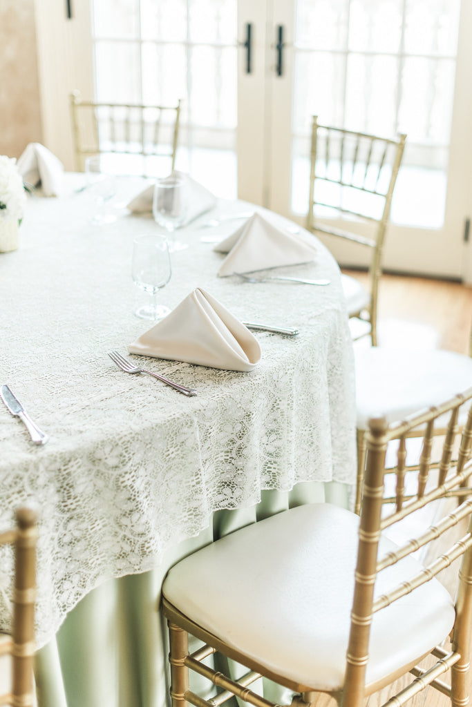 Linen - Ivory Lace - Main Street Weddings & Events