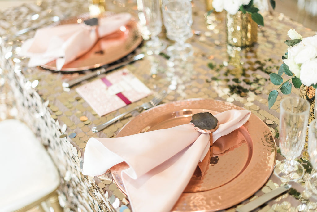 Linen - Gold Large Payette Sequin - Main Street Weddings & Events