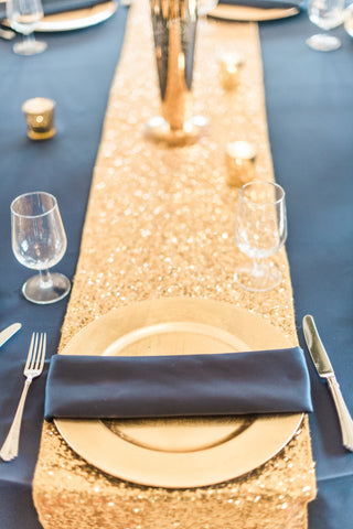 Linen - Gold Glitz Sequins - Main Street Weddings & Events